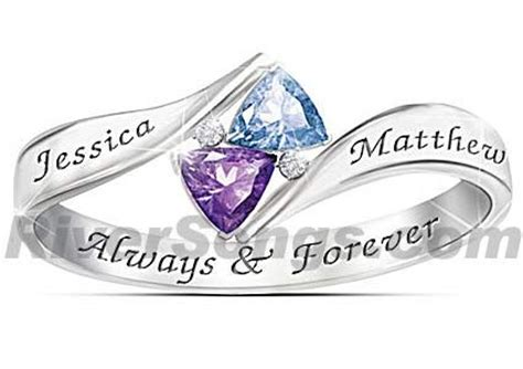 promise birthstone promise ring for a solid