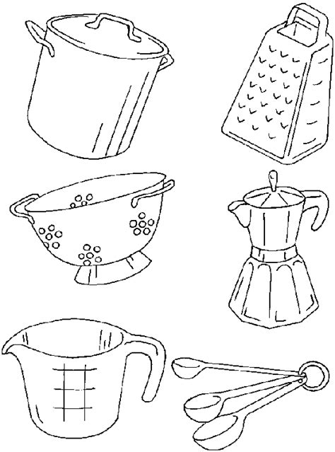 coloring pictures kitchen utensils creazioni con stoffa disegni per patchwork
