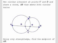 A Straightedge Construction of the Midpoint of a Chord ... Delta Kite Diagram