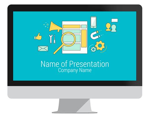 Online Marketing Powerpoint Template Presentationdeck Com Digital Marketing Ppt Template
