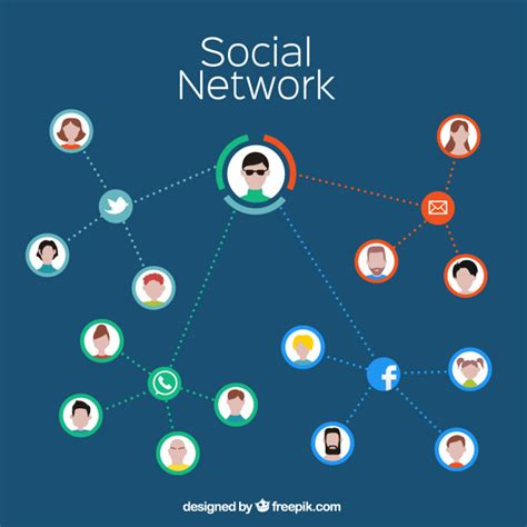 Social Network Search Free Social Network Infographic Vector Free