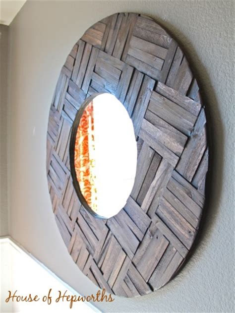 diy mirror projects totally awesome mirror made from shims diy mirror project