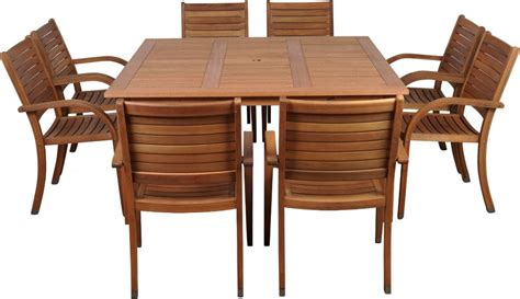 9 patio dining set amazonia arizona 9pc square outdoor patio dining set w