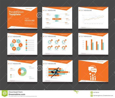 design concept presentation template orange infographic business presentation template set