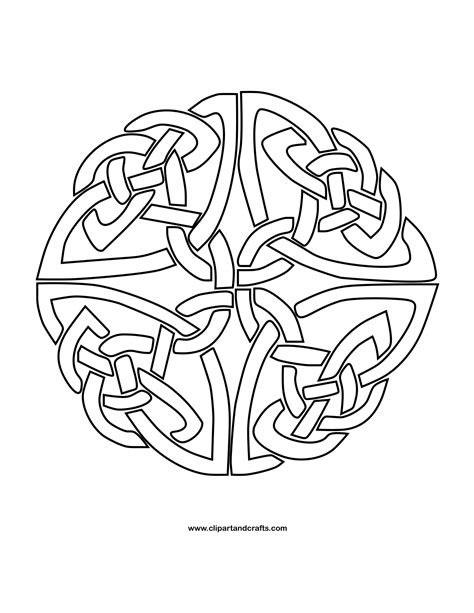 free coloring pages mandalas celtic mandala monday more free celtic mandalas to color