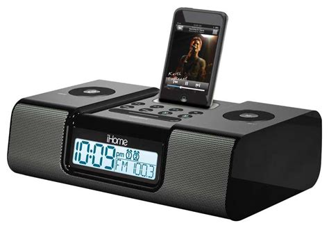 ihome ih9 alarm clock speaker system with