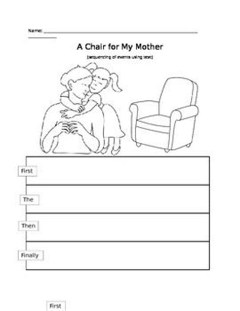 a chair for my worksheets reading mothers and chairs on