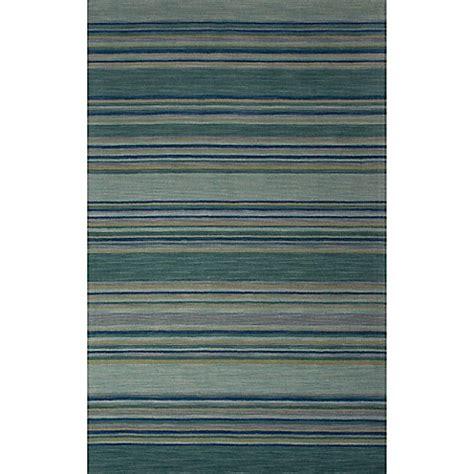 Modern Stripe Rug Jaipur Coastal Dunes Modern Stripe Rug In Jetty Blue Bed Bath Beyond