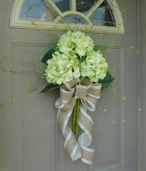Front Door Flower Arrangements Hydrangeas Front Door Wreaths Floral Arrangements Wr