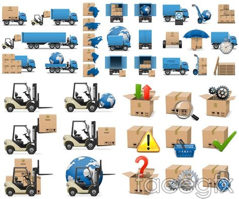 ppt templates free download logistics logistics and transport icons vector over millions