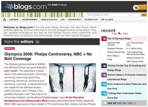 Blogs By by Blogs El Directorio De Weblogs Editado Por Humanos De
