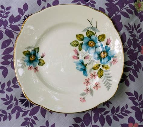 beautiful plates shabby chic vintage teacups and side plates set blue wild
