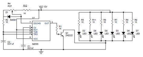 pwm led dimmer using ne555 circuit and block diagrams