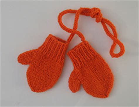 knitting patterns galore toddler mittens on a string