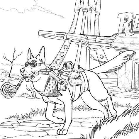 Fallout 4 Coloring Pages fallout 4 coloring pages sketch coloring page