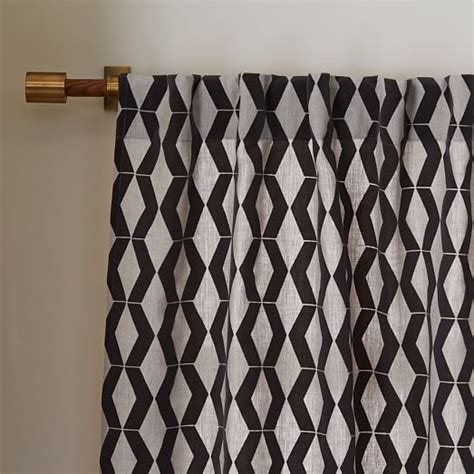 flocked curtains rhombi flocked curtain west elm