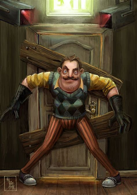 hello neighbor fan games hello neighbor do not enter by ukalayla on deviantart