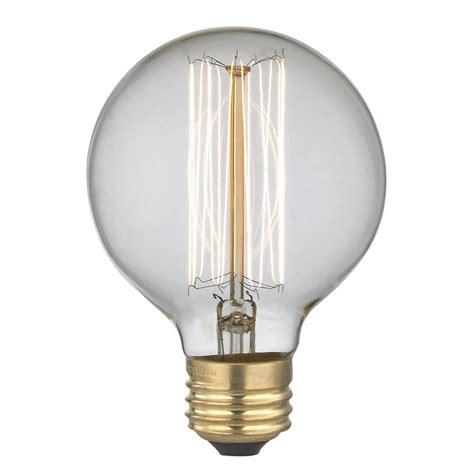 edison globe light bulbs vintage edison g25 globe light 40 watts 40g25