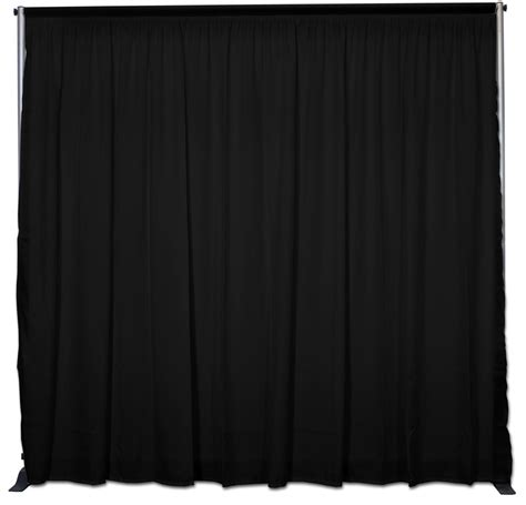 Black Backdrop Curtains Booth Backdrop 10 1 5 Quot W Pipe N Drape Back Wall