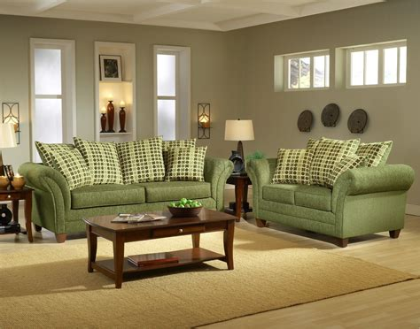 Green Living Room Furniture by Light Forest Green Fabric Modern Living Room Sofa