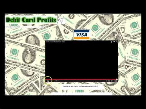 Make Money Online Without Credit Card - free debit card number really works