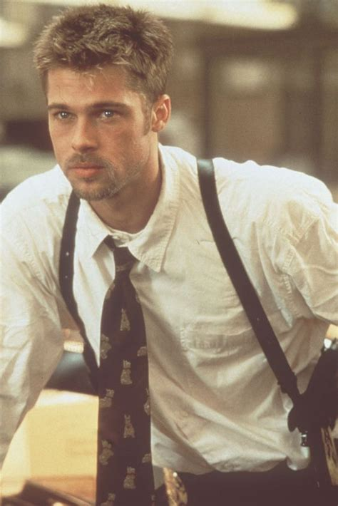 brad pitts haircut in seven 32 pictures for the young brad pitt famepace
