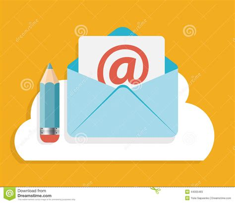 design concept write up flat design concept email write icon vector stock vector