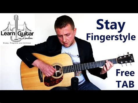 fingerstyle tutorial download full download stay by rihanna how to play guitar lesson