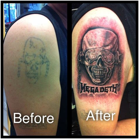 megadeth tattoo designs megadeth cover up by jamesboots you