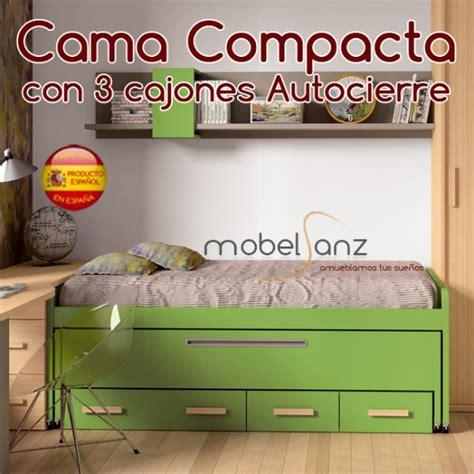 cama compacta juvenil cajones cama compacto juvenil con 2 contenedores o cajones de arrastre