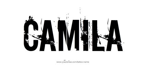 camila name tattoo designs