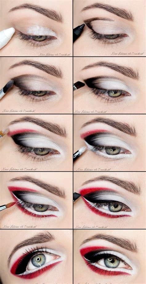 black eyeliner tutorial video diy red and black eye makeup beautiful shoes