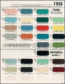 original color 1956 1957 lincoln continental ii paint chips 9
