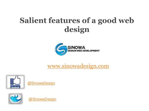 good layout features salient features of a good web design