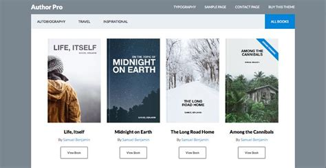 wordpress templates for books author pro wordpress theme for published books or travel