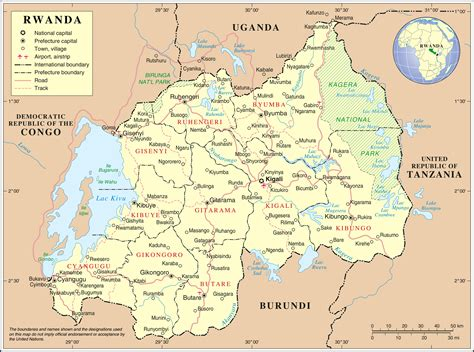rwanda map large detailed political and administrative map of rwanda with all cities roads and airports