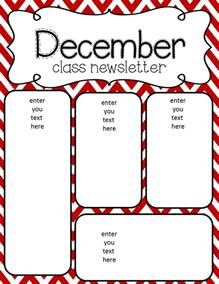 December Newsletter Template by Simply Delightful In 2nd Grade
