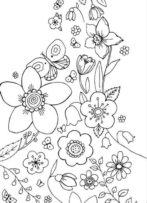 spring flower coloring pages flowers coloring sheet free printable spring flowers coloring pages az coloring