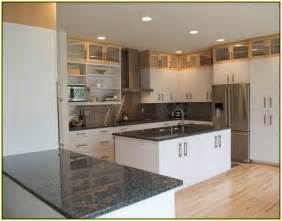 Improvements refference black granite countertops with dark cabinets