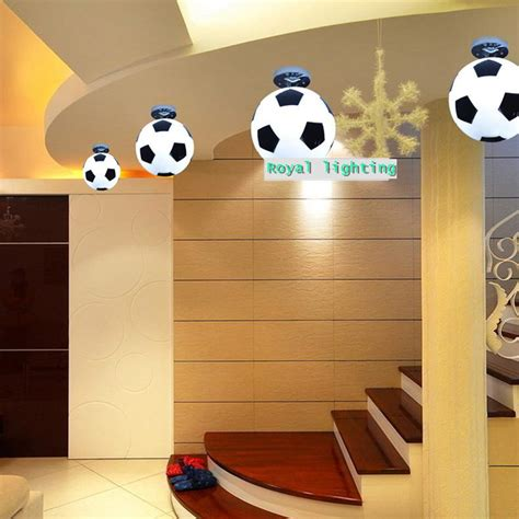 boys bedroom light fitting 2017 football ceiling ls abajur soccer ball ceiling