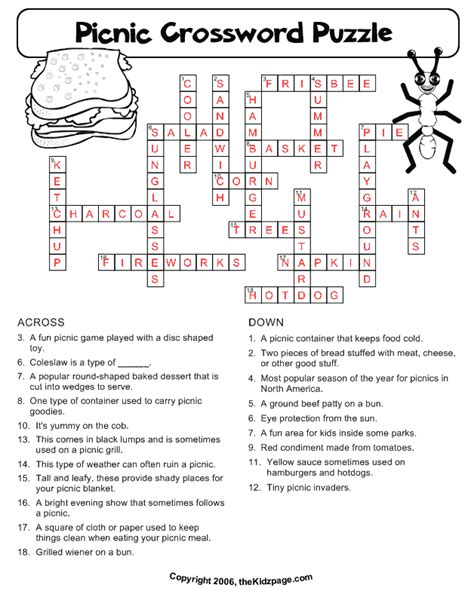 conduction coloring page crossword answer key free printable cards free printable crossword puzzles