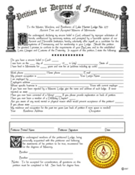 application letter to join freemasonry become a freemason