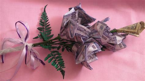 tutorial buat bunga dari uang kertas cara merangkai bunga kertas joy studio design gallery