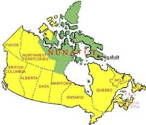 nunavut map canada nunavut political map