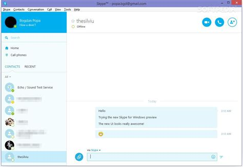 Find New On Skype Skype For Windows Updated With New Ui Photo Gallery