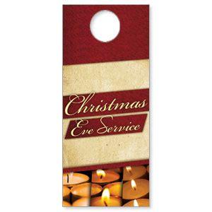 Church Door Hanger Christmas Eve Lights Outreach Marketing Free Church Door Hanger Template