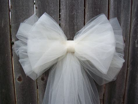 tulle pew bow over 20 colors tulle church pew decor tulle