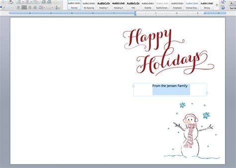 Printable Holiday Cards Liners On The Paper Chronicles Family Card Template 2