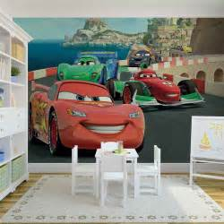 Disney Cars Wall Mural Full Wall Huge 368x254cm cars race disney wall mural kids room decor ebay