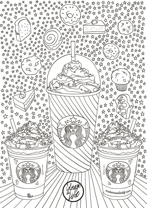 coloring page of starbucks coloriage starbucks i mademoiselle stef blog lifestyle